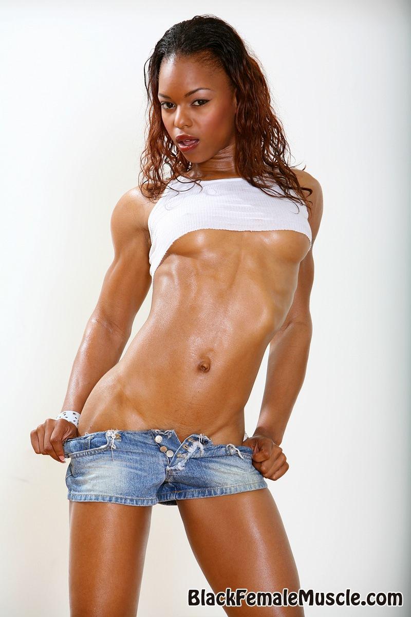 Sexy ebony strip tease